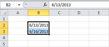 Диапазон в Excel