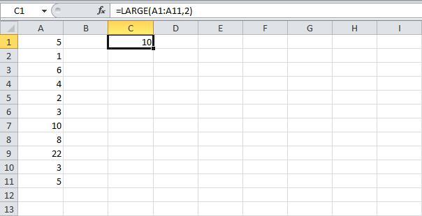 Суммирование наибольших чисел в Excel