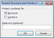 Настройка защиты в Excel