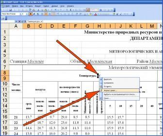 Как в Excel 2003 выбрать формат ячеек?