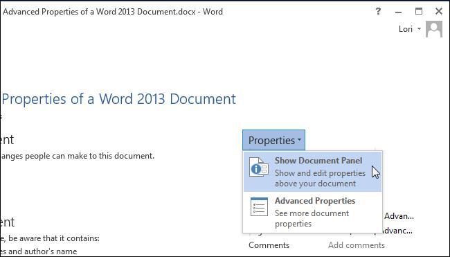 Настраиваем свойства документа в Word