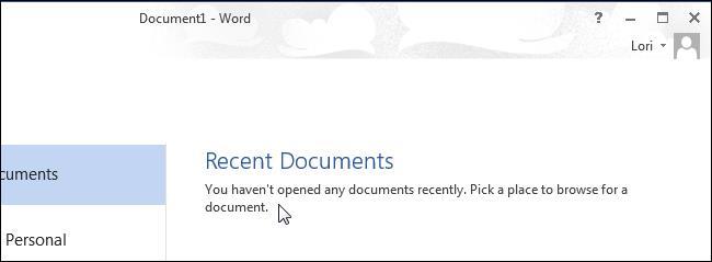 Очистить список последних документов в Office