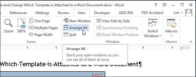 Просматриваем сразу несколько документов в Word