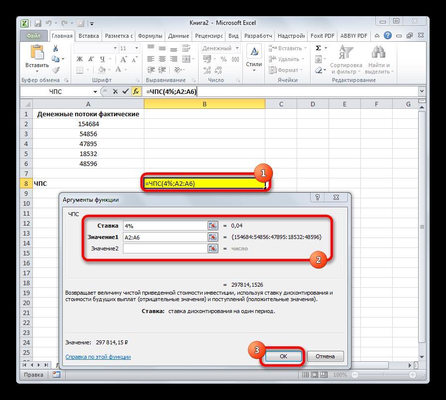 Функция ЧПС в Microsoft Excel