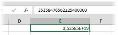 Введенное длинное число превращается в компактную экспоненциальную форму