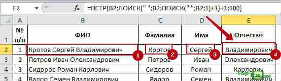 Slitii text 5 Как разделить текст в ячейке Excel?