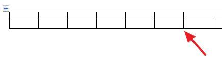 таблица для отрывных объявлений