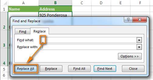 Удаляем переносы строк в Excel