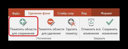 Основной инструмент при удалении фона в PowerPoint