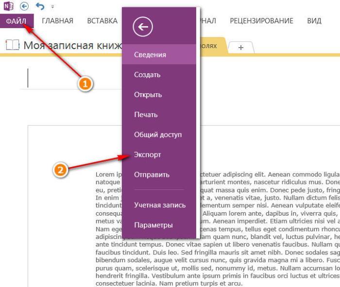 Экспорт документа из OneNote в качестве картинки