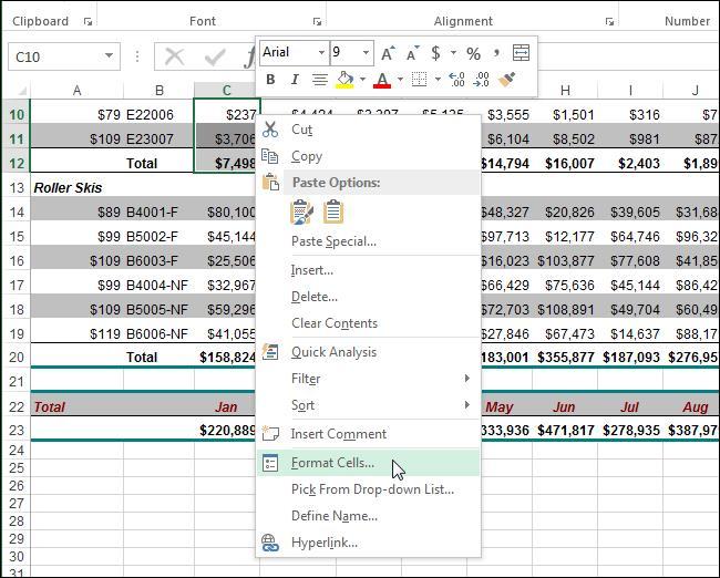 Скрываем ячейки, строки и столбцы в Excel