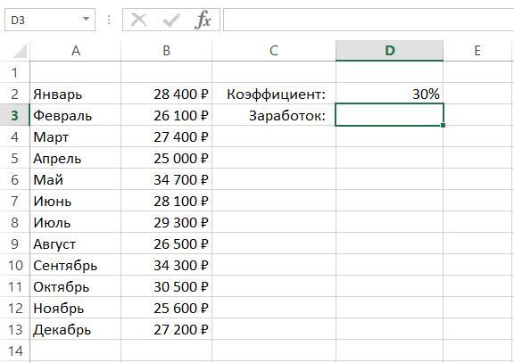 Имена ячеек и диапазонов в Excel