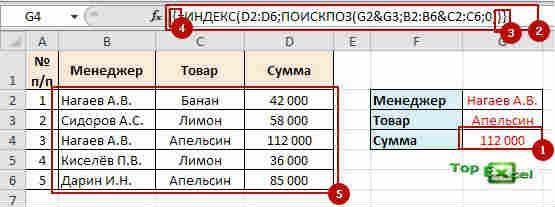 Find po neskolko usloviy 2 Поиск по нескольким критериям в таблицах Excel