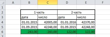 Расчет разницы между датами