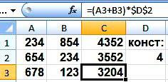 абсолютные и относительные ссылки в Excel