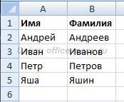 Исходная таблица