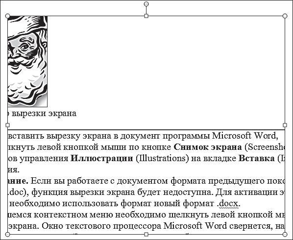 Рис. 7.5. Пример вырезки экрана