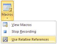 Запись макроса в Excel