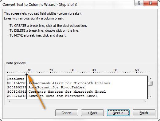 Разбиваем ячейки в Excel